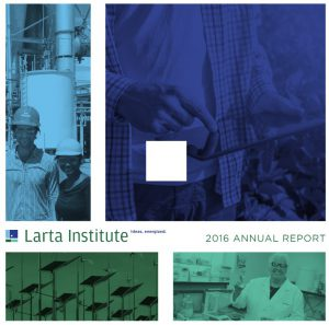 2016 Larta Institute Annual Report Cover